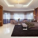 tv sofa bed pillows rug lamp curtains