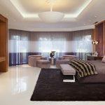 tv sofa bed pillows rug lamp curtains