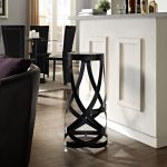 "unique black Ribbon 30"" Bar Stool by Modway for modern sleek dining room white kitchen cabinet with granite countertop"