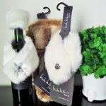 Unique Nicole Miller Home Decor Idea With Coated Wine Decoration With Faux Fur Idea Aside Potted Plant In White And Brown Tone
