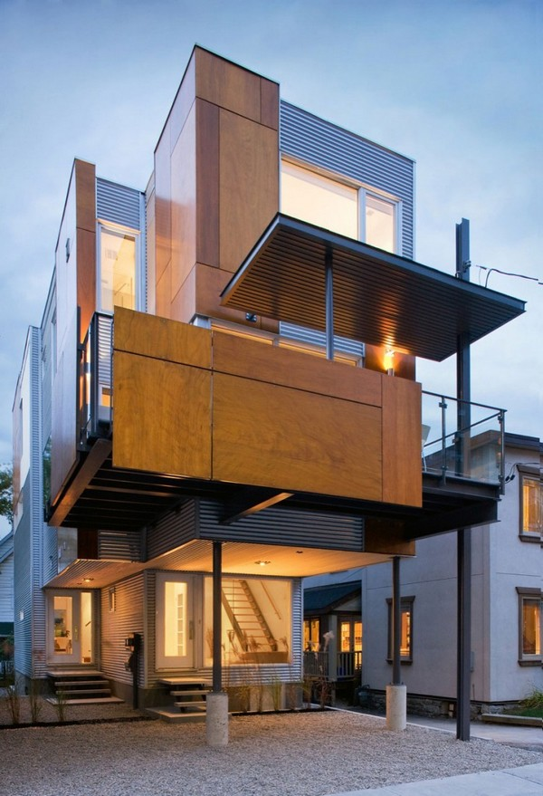 Small Lot House Plan Idea Modern Sustainable Home