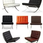 various barcelona chair dimension idea in white black brown orange and gray color with tuft pattern and metal frame