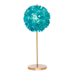 venus turquoise floor lamp with tree shape  plus golden post and base and mesmerizing design for home decorating ideas