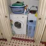 washer basket sink closet door