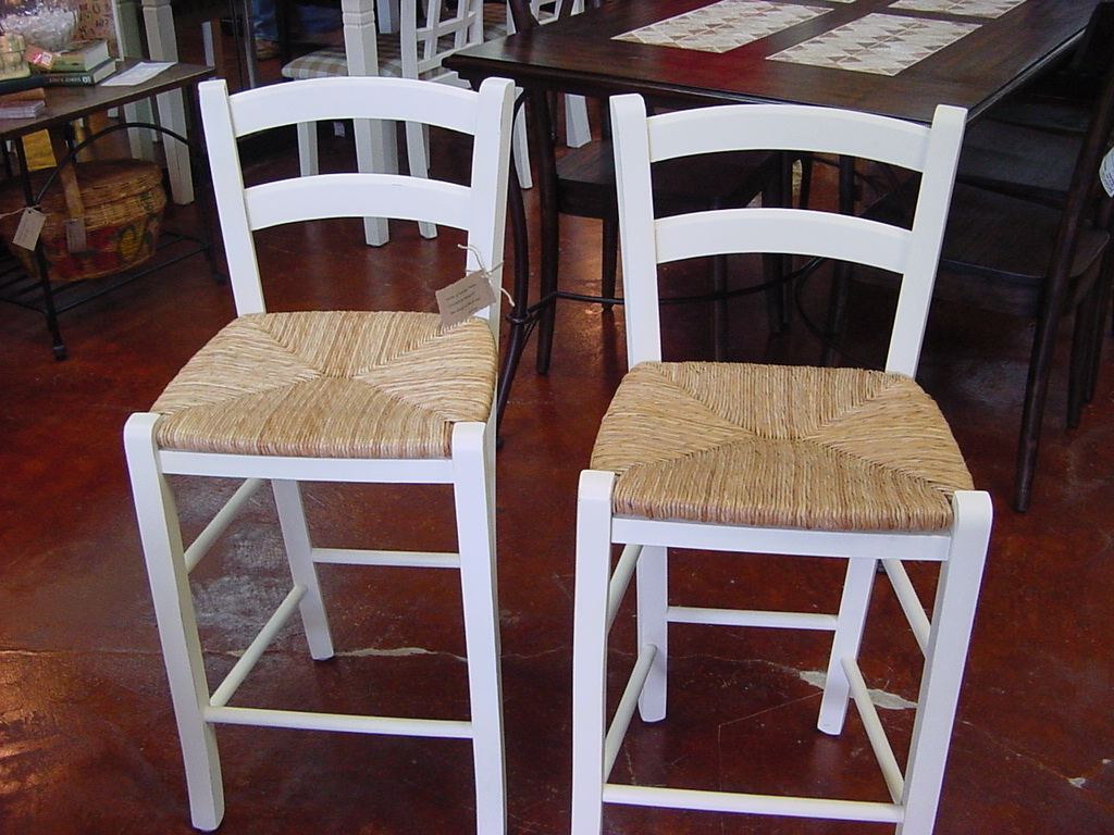 White Wood Bar Stools Providing Enjoyment In Your Kitchen Counter Space