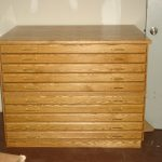 wood cabinet flat file