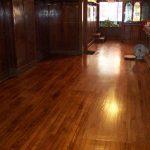 wood floor cabinet windows