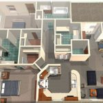 3D home design which is drafted by using home designing software