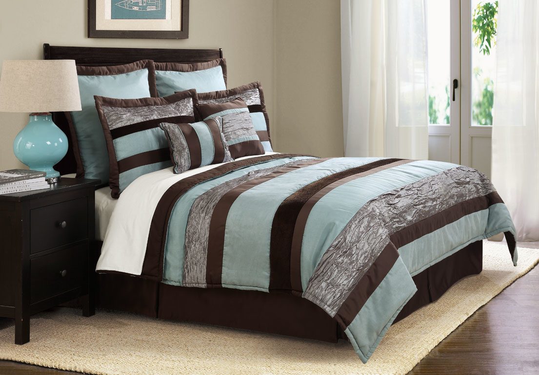Teal And Brown Bedding Product Selections Homesfeed