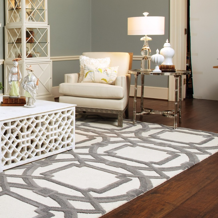 Global view rug unique pattern interior rug homesfeed - White living room rug ...