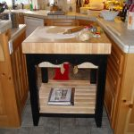 Affordable Multifunctional Wooden Kitchen With Rack Between Kitchen Set