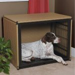 Another rattan dog crate cover idea