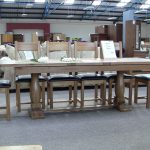 Antique 12 Seat Dining Table And Wood Chairs