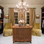 Antique and classic chandelier for closet room