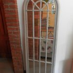 Arched And Long Window Pane Mirror