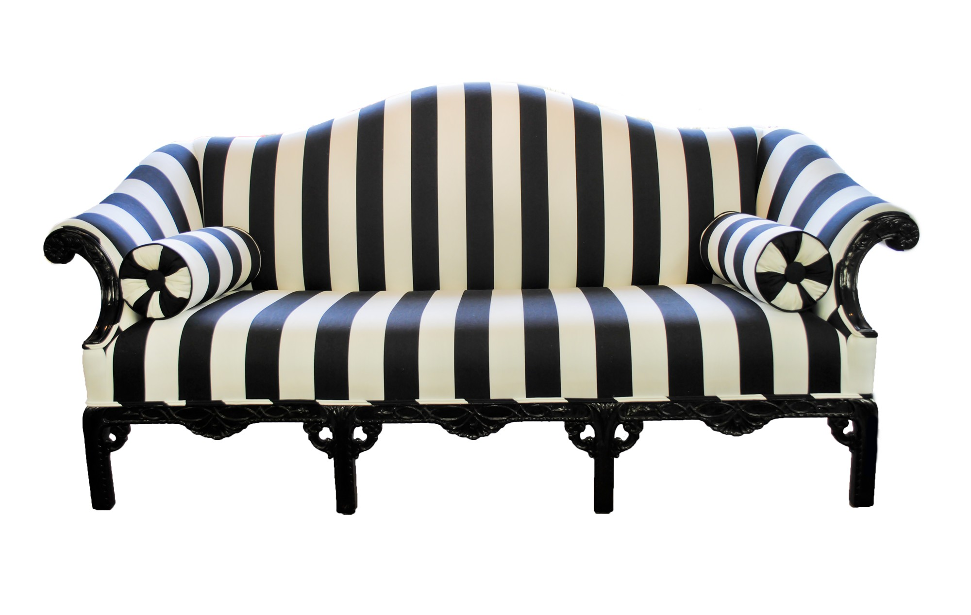 Black and White Striped Couch