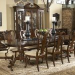 Awesome Wooden Dining Room Sets Table And Chairs With Cool Carpet And Big Hutch