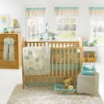 Baby Bedding Fish Wooden Furniture White And Blue Color With Fur Rug