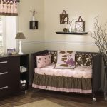 Baby Crib Fish Bedding Brown Furniture And Accessories With Small Lamp Rug And Nice Curtain