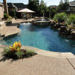 Backyard Landscaping Ideas With Rocks Fountain And Gazebo