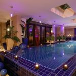 Beautiful Indoor Swimming Pool With Pretty Decoration