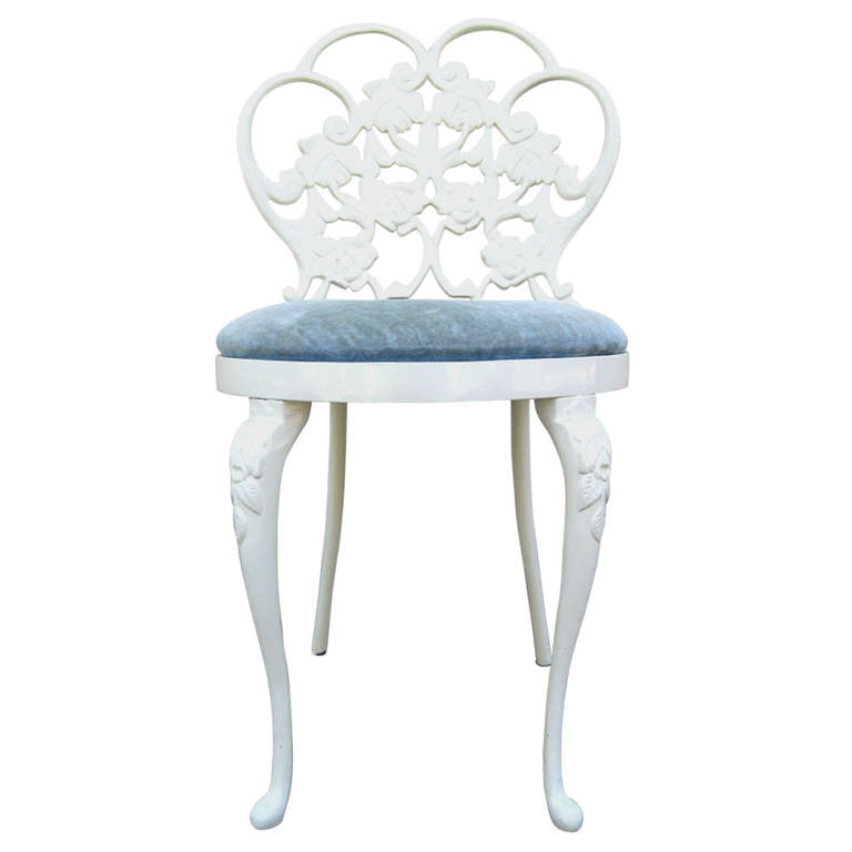 Awesome Vanity Chair With Back Design Options Homesfeed Caraccident5 Cool Chair Designs And Ideas Caraccident5Info