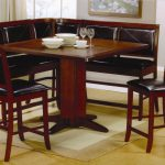 Black And Brown Dark Color Dining Room Sets Nook And Small Carpet