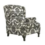 Black And White Color Design Of Damask Accent Chair