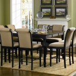 Black Wooden Kitchen Table Set With Chairs And Fireplace And Frame Accessories