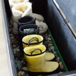 Black box storage for storing a group of boots
