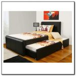 Black leather pull out bed idea