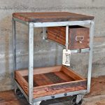 Block butcher bar cart idea with single small drawer and wheels