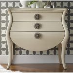 Bombe Chest Warm Color With 3 Drawers Wallpaper
