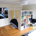 Book rack divider room in white color