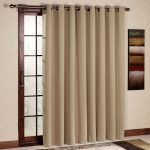 Brown Warm Color Of Curtain With Cool Rug And Frame