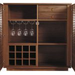 Cabinet system for wine bar consisting of shelves wine glass holders and wine bottle holders
