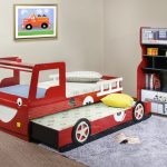 Car themed bed design for twin a bookshelf looks like a gas station grey wool bedroom rug