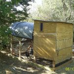 Chicken Coop WIth Wood Material