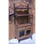 Classic Wooden Baker Rack With Two Drawers And Cabinet