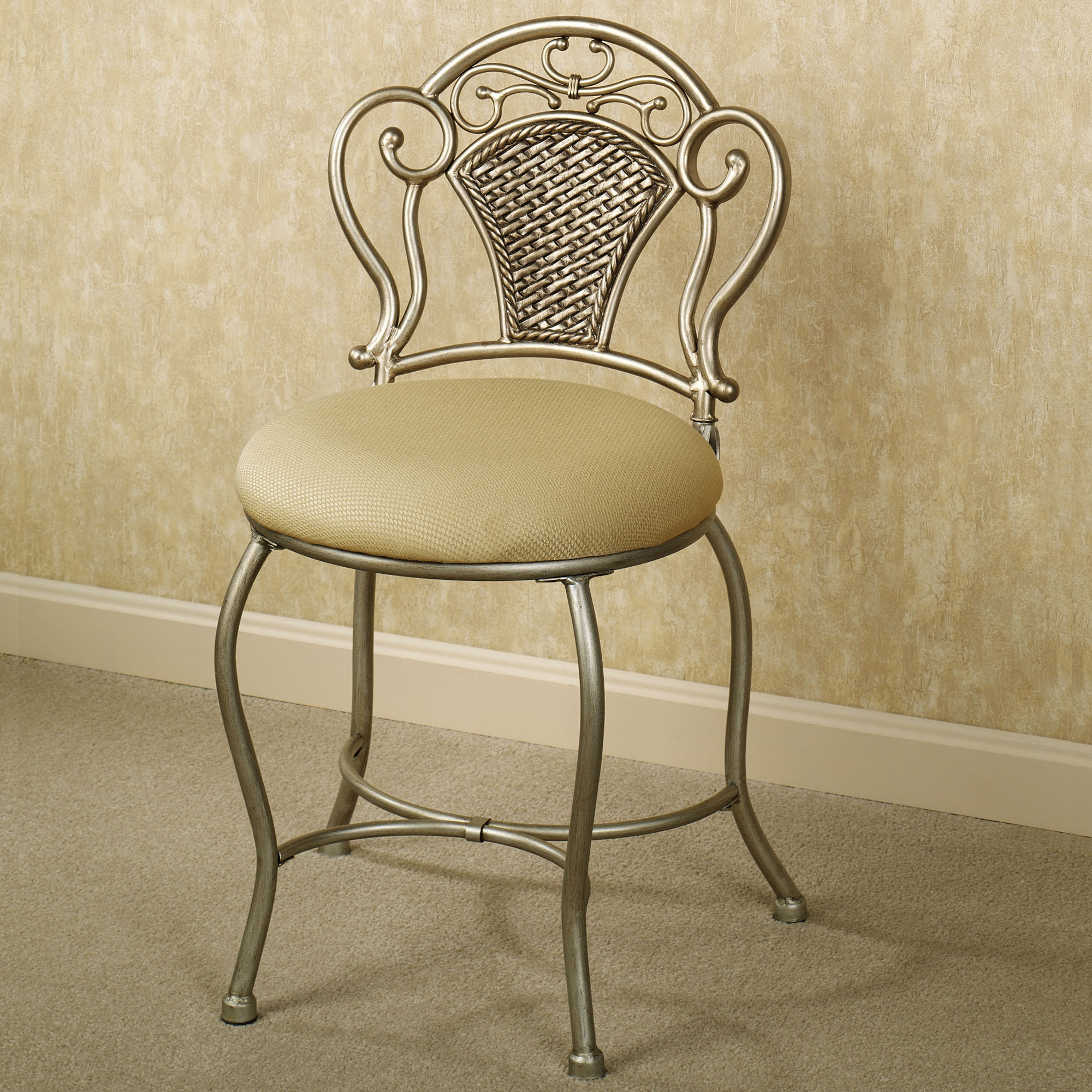 Enjoyable Vanity Chair With Back Design Options Homesfeed Caraccident5 Cool Chair Designs And Ideas Caraccident5Info