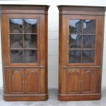 Colonial Style Of Corner Cabinet With Glass Doors