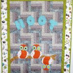 Comfortable baby boy quilt with cute owl images