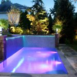 Cool Lighting Of Small Rectangular Pool