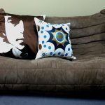 Cool decorative pillows for cozy black couch