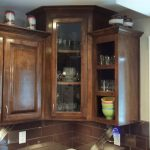 Corner Kitchen Cabinet With Glass Doors