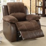 Cozy giant recliner with footboard and thic wool slip cover