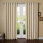 Cream Blackout Curtains For Door Windows
