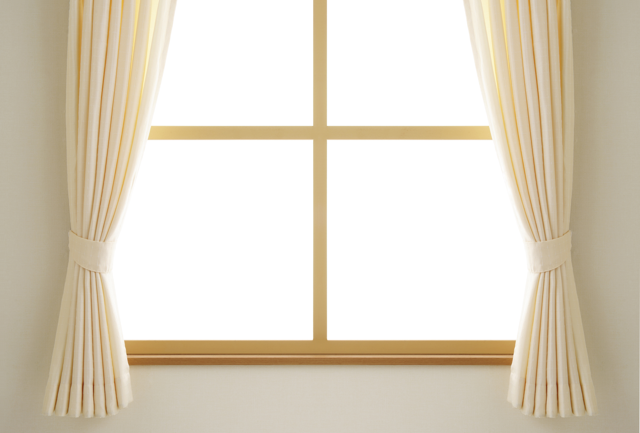 Cream Color Of Winter Curtain For Small Windows