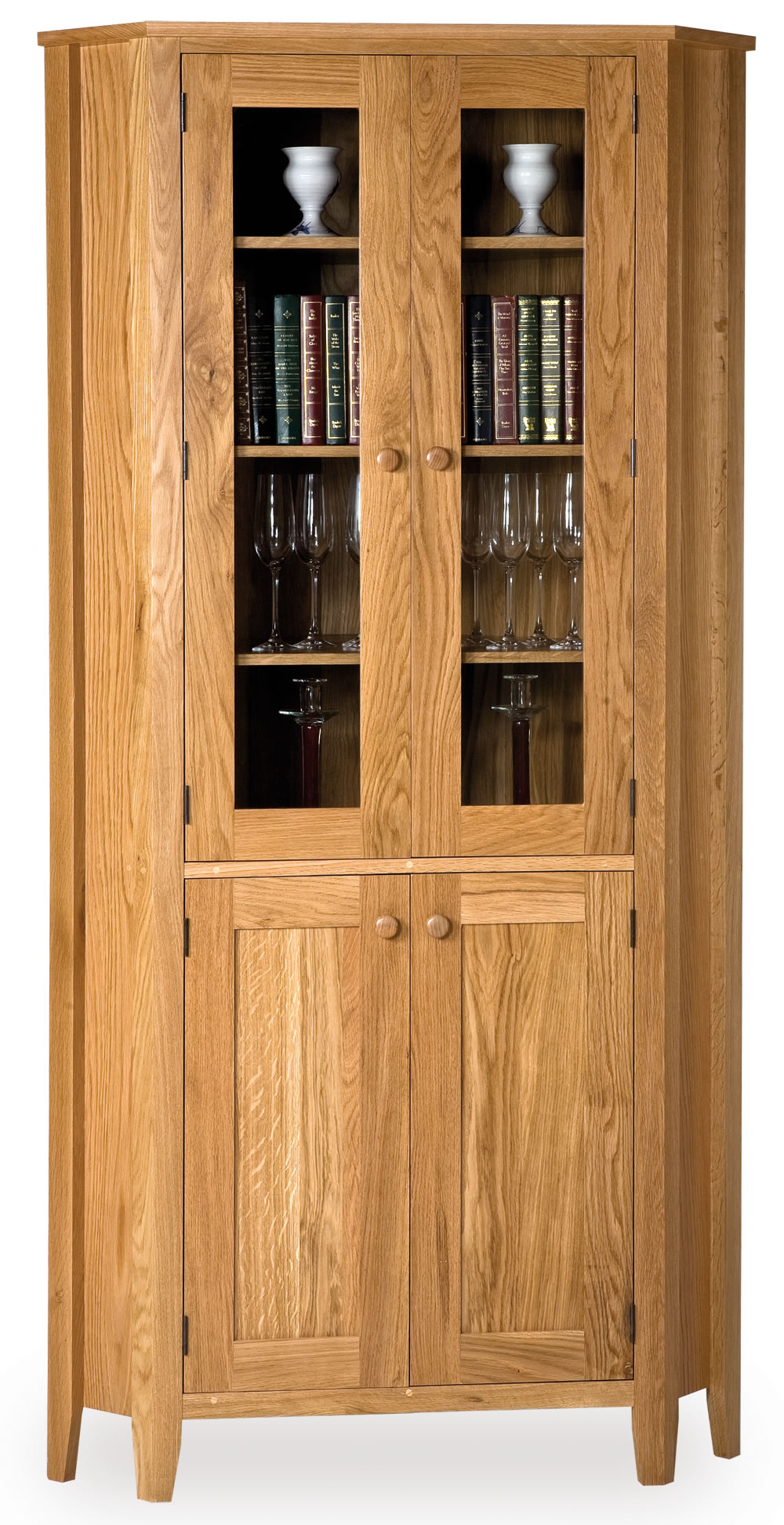 corner cabinet with glass doors homesfeed. Black Bedroom Furniture Sets. Home Design Ideas