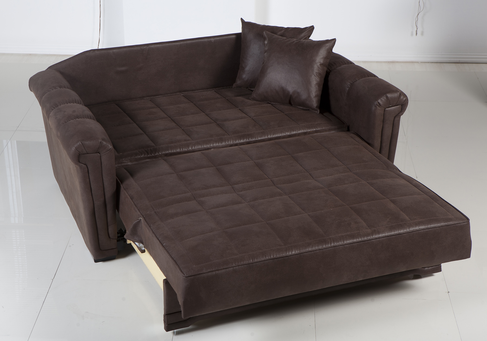Leather Loveseat Sleeper Sofa Mainstays 54 Loveseat